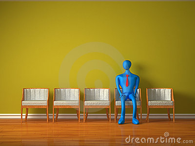 3d person waiting for admission