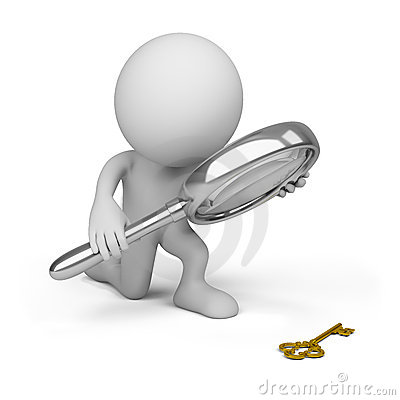Free 3d Person With A Big Magnifying Glass Royalty Free Stock Photography - 21464127