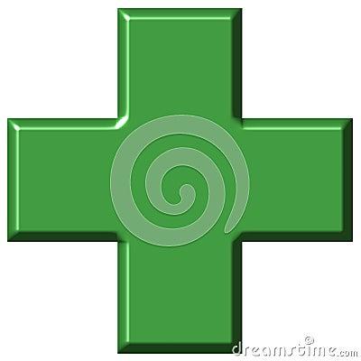 3D Pharmacy Cross