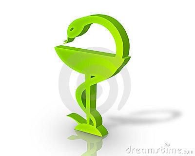 3D pharmacy symbol