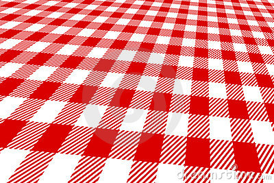 3d picnic tablecloth red and white