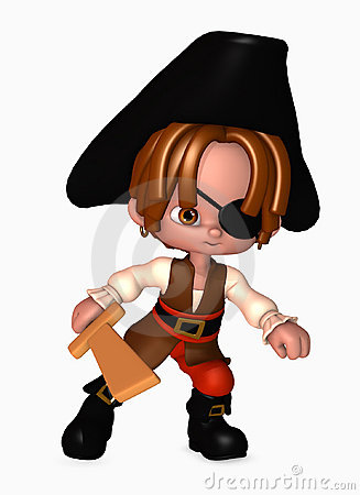 Free 3d Pirate Boy With Sword Stock Photo - 5567910