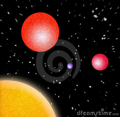 3d planets in space stock image image 698631 for 3d outer space map