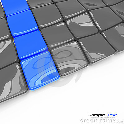 3d plates abstract background