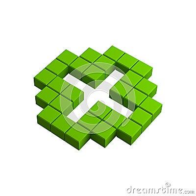 3d plus pixel icon