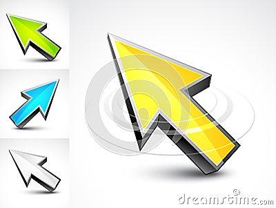 3D pointer arrows