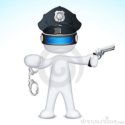 3d Police Man in vector