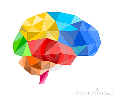 3d polygon brain