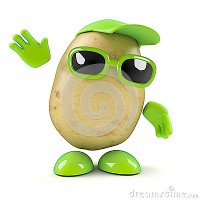 Free 3d Potato Waves Royalty Free Stock Image - 38958496
