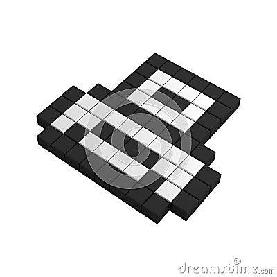 3d print pixel icon