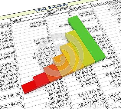 3d progress bar on trial balance sheet