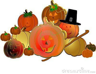 3d pumpkins with pilgrims hat