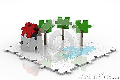 3D Puzzle Backyard