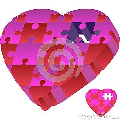 3D Puzzle Heart