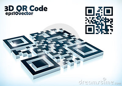 3d qr code in  format Editorial Photo