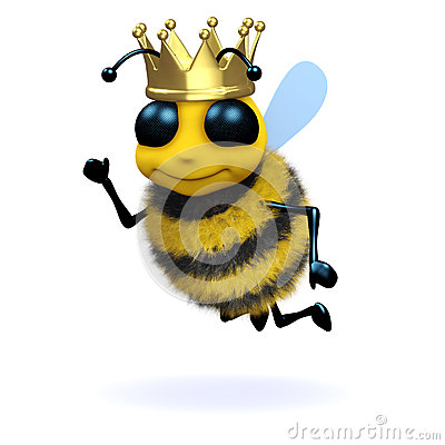 Free 3d Queen Bee Royalty Free Stock Photo - 38169165