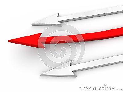 3D rad arrow. Competition concept.