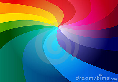 3D rainbow  background