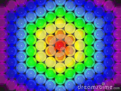 3D rainbow balls