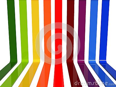 3d rainbow lines