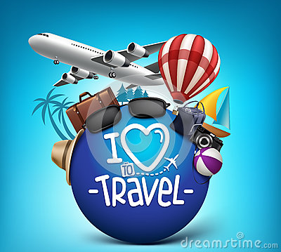 Free 3D Realistic Travel And Tour Poster Design Around The World Stock Image - 59213951