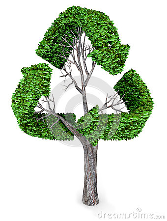 3D recycling tree