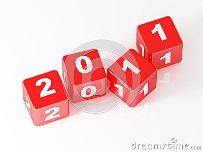 3d red dice 2011
