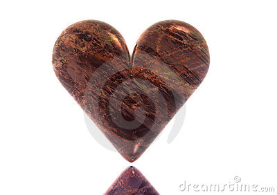 3D Red Marble Valentine Heart