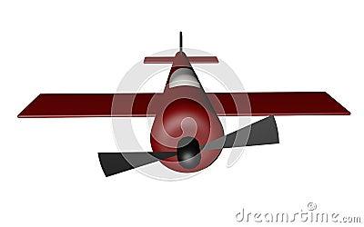 3D Red Plane Model