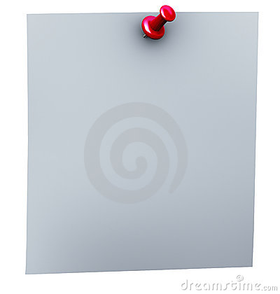 3d red thumbtack