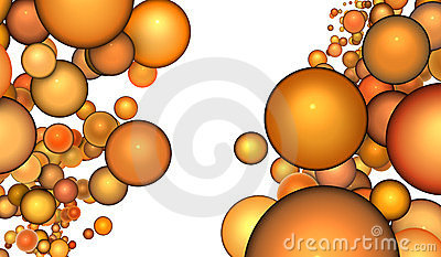 3d render abstract bubble in orange