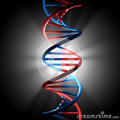 3D Render Bitmap - DNA Model Stock Images - Image: 17686464