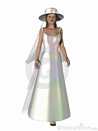 3D Render Bride Bridal Fashion