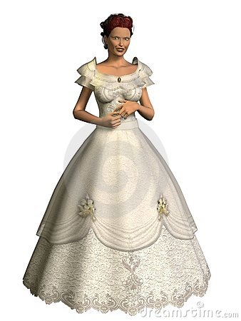 3D Render Bride Bridal Fashion