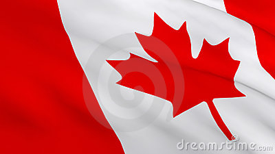 3d Render of a Canadian flag