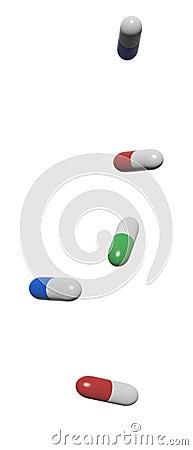 3d render of capsules