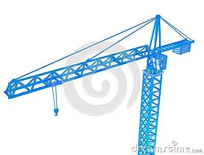 3D Render of crane