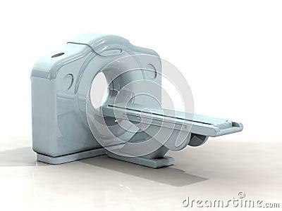 3d render ct or cat scanner