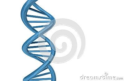 3D Render DNA Strand