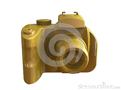 3d render of DSLR camera