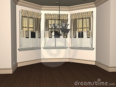 3D render of Empty Breakfast Nook