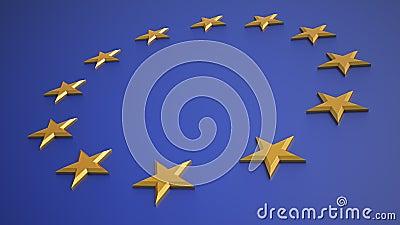 3D render of the EU flag