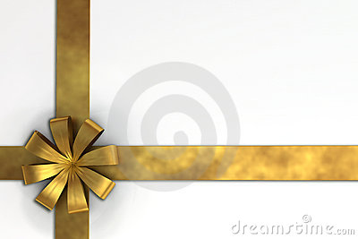 A 3D render of gift ribbon