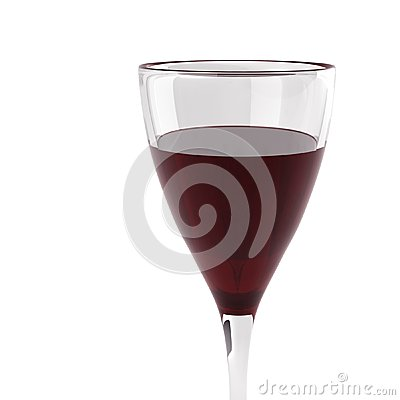 3d render of glass with wine