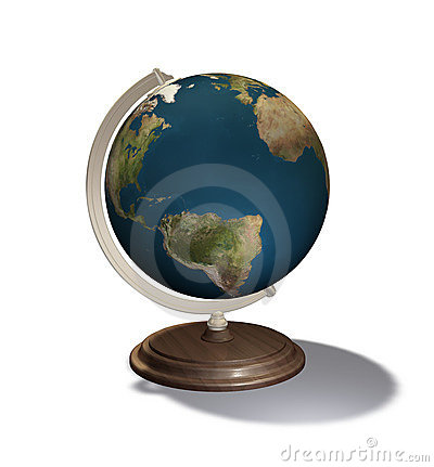 3d render globe
