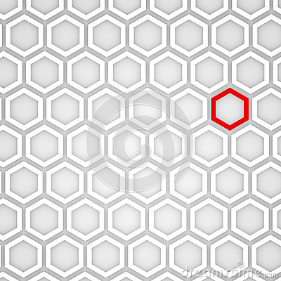 3d Render of an Hexagonal Background