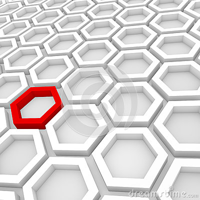 3d Render of a Hexagonal Background