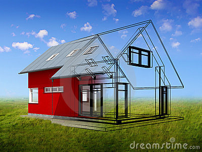 3d render of house