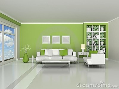 3d render interior of the modern room