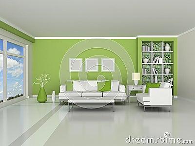 3d render interior of the modern room